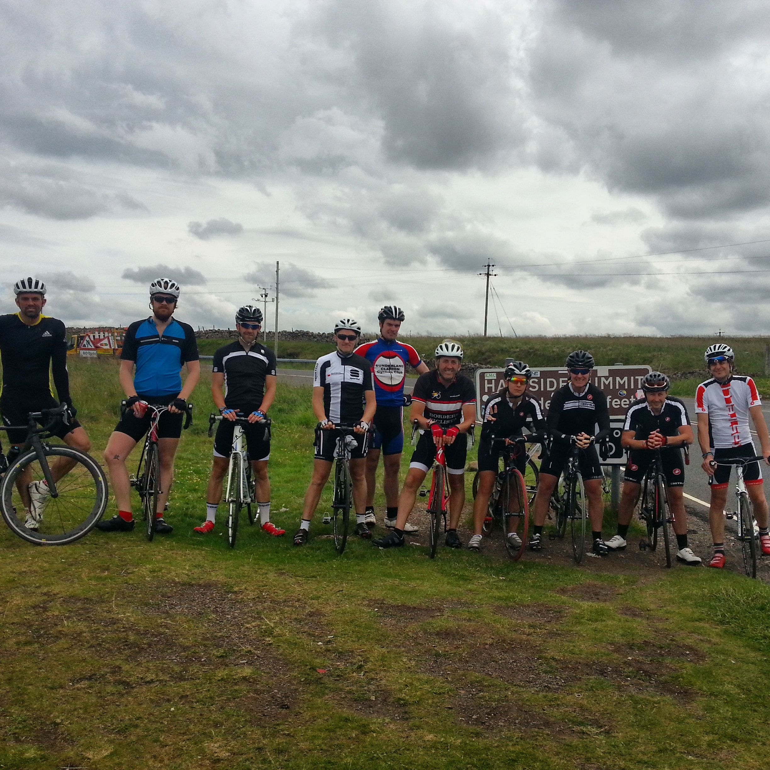 Team Photo, Dun Fell, Radar Station, Climbing, British Cycling, SSVCC, Great Dunn Fell, South Shields Velo Cycling ClubDun Fell, Tyne & Wear, Radar Station