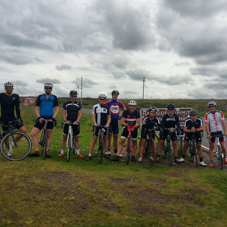 Team Photo, Dun Fell, Radar Station, Climbing, British Cycling, SSVCC, Great Dunn Fell, South Shields Velo Cycling ClubDun Fell, Tyne & Wear, Radar Station